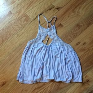 Urban Outfitters Lavender Lace Detail Tank XS